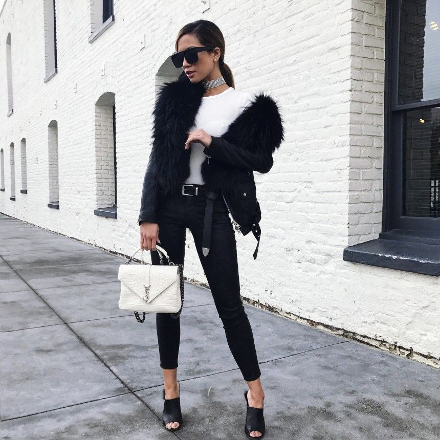 Jessi Malay wearing YSL bag and Faith Connexion Jacket in