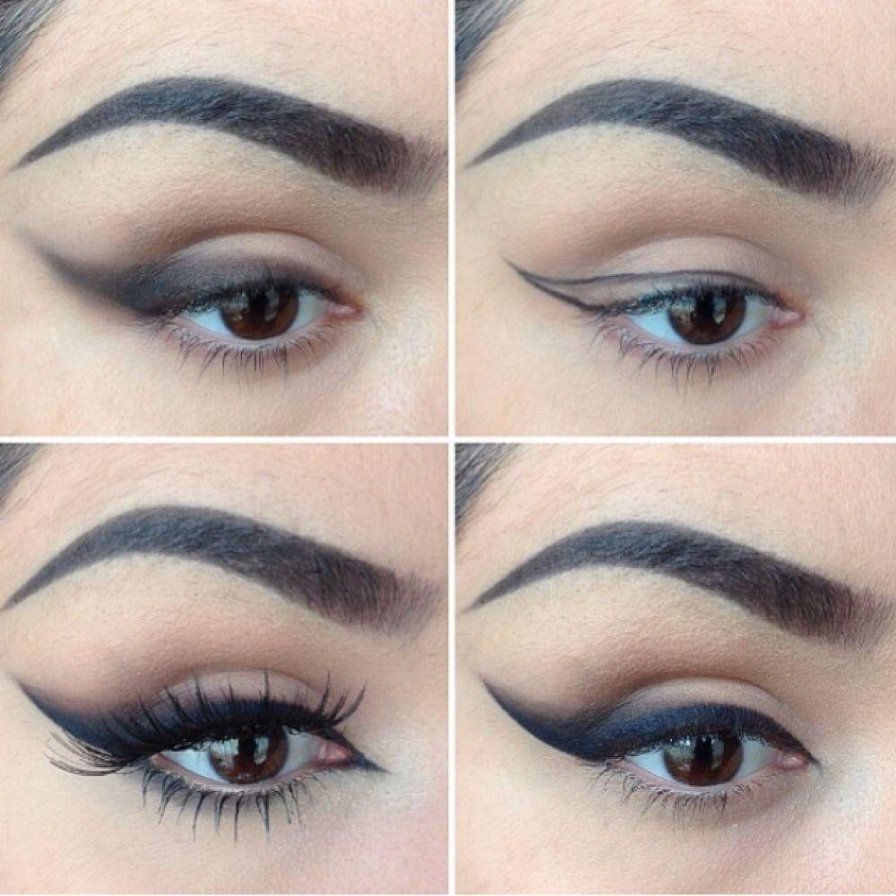 Liner is sick follow in facebook httpsfacebookmari intense winged out eye liner cat eye makeup tutorial baditri Image collections