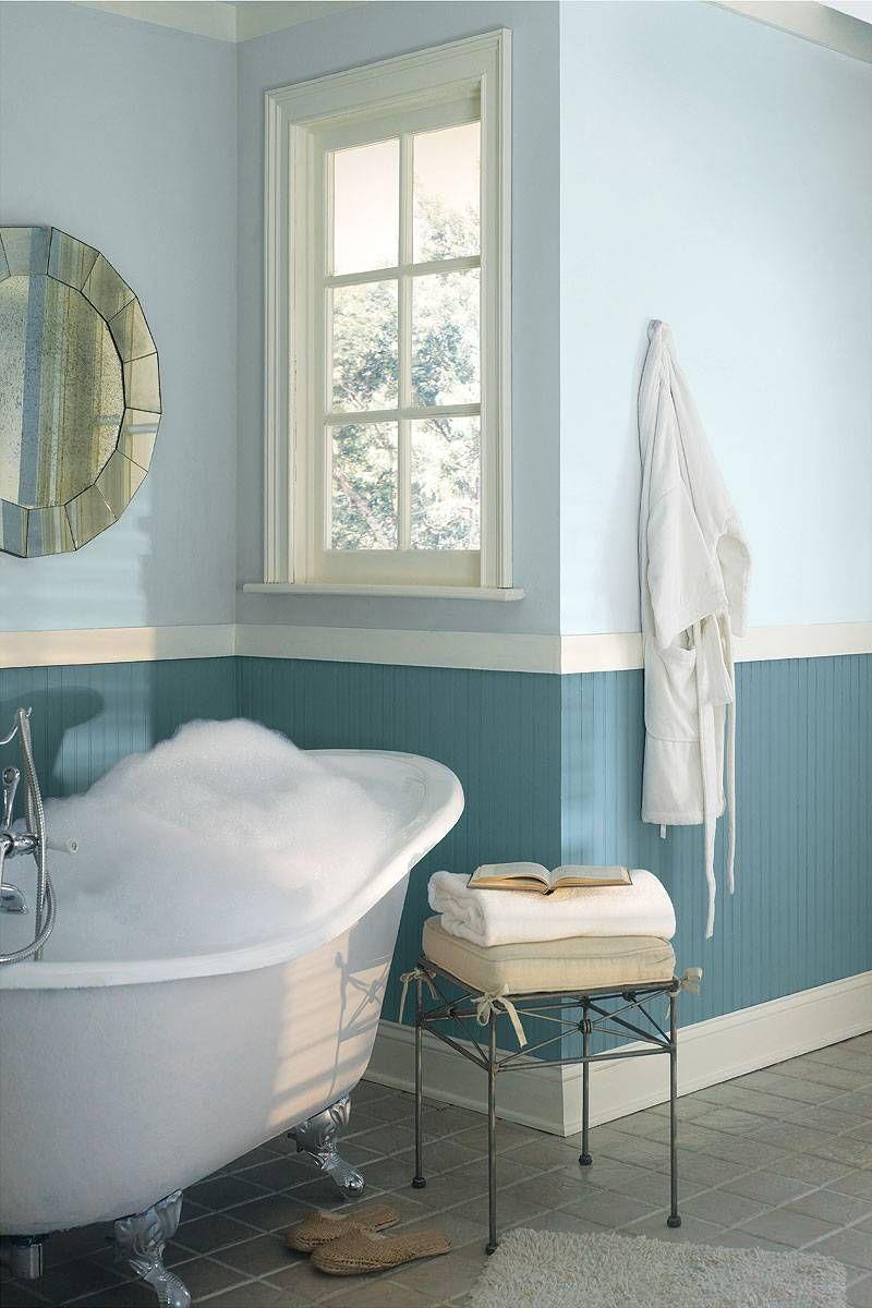 Peinture salle de bain 2015 en 30 idées de couleurs tendance ...