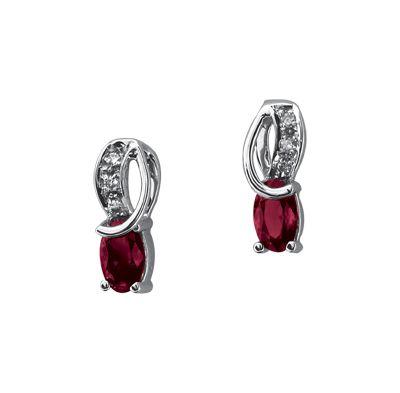 21fa46f89eb0 Aretes Charisse oro blanco 14k con 60 puntos de rubí y 3 puntos de diamante  Precio boutique  4