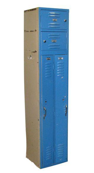 Vintage Blue metal locker by Republic Steel Corporation