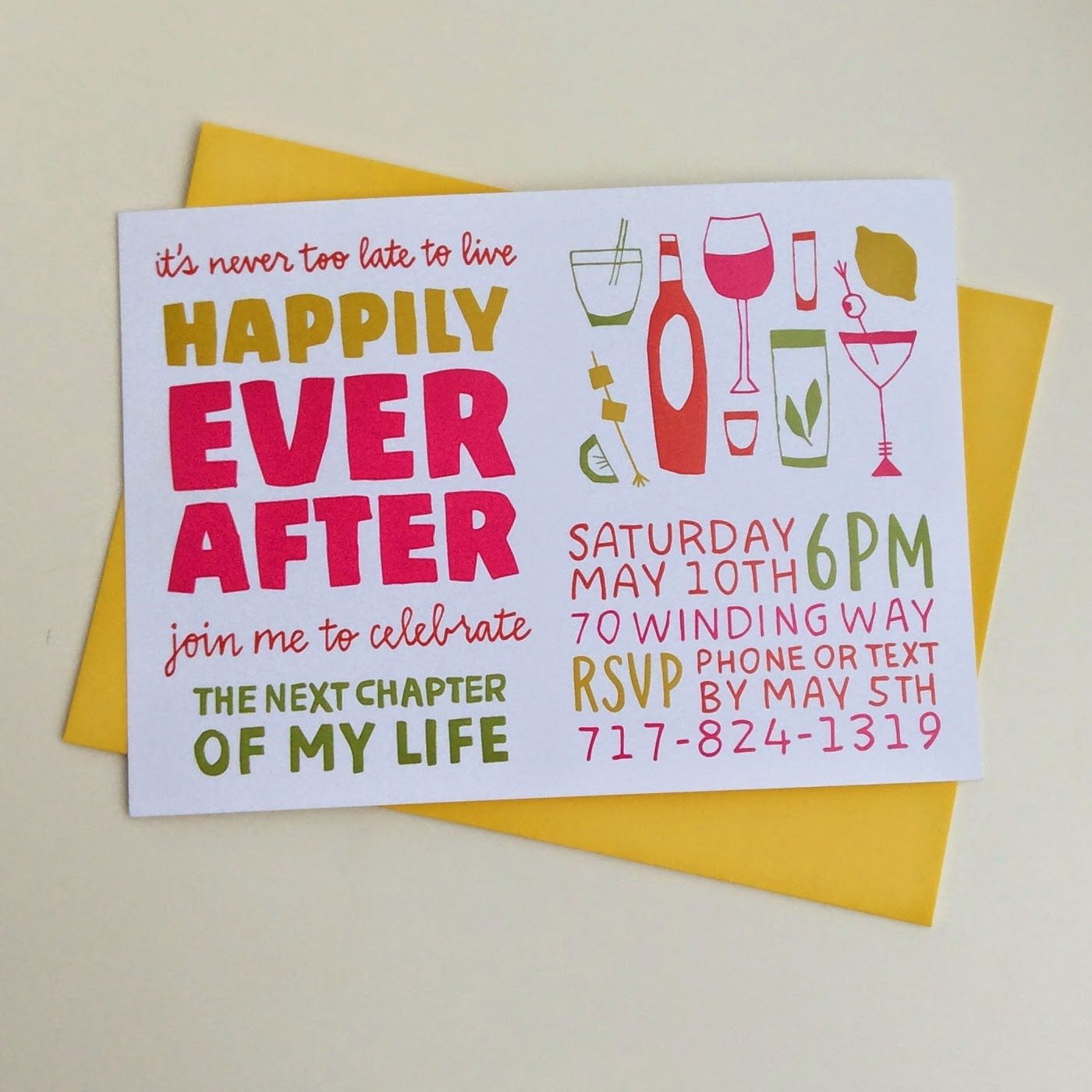Divorce Party Invitations | Laura Korzon Illustration #paperjane ...