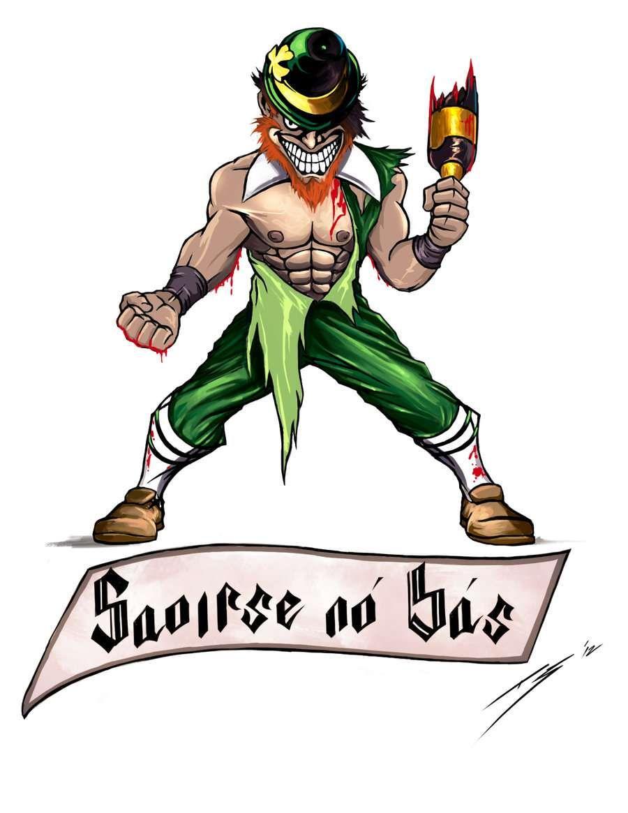 Fighting Irish Tattoo Stencil | Good ideas | Irish tattoos ...