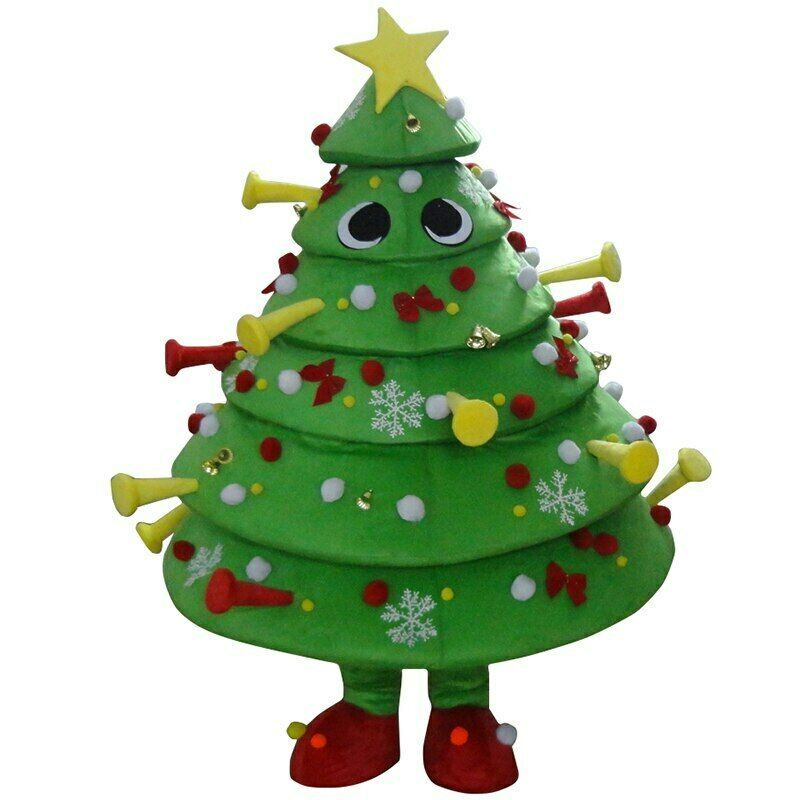 Halloween Christmas Tree Mascot Costume Cosplay Party Clothing Carnival Adults In 2020 Christmas Costumes Halloween Christmas Tree Halloween Christmas