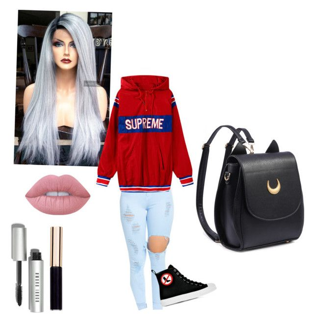"""Untitled #20"" by swaggiecat24 ❤ liked on Polyvore featuring Moschino, Lime Crime, Bobbi Brown Cosmetics and TRUE Isaac Mizrahi"