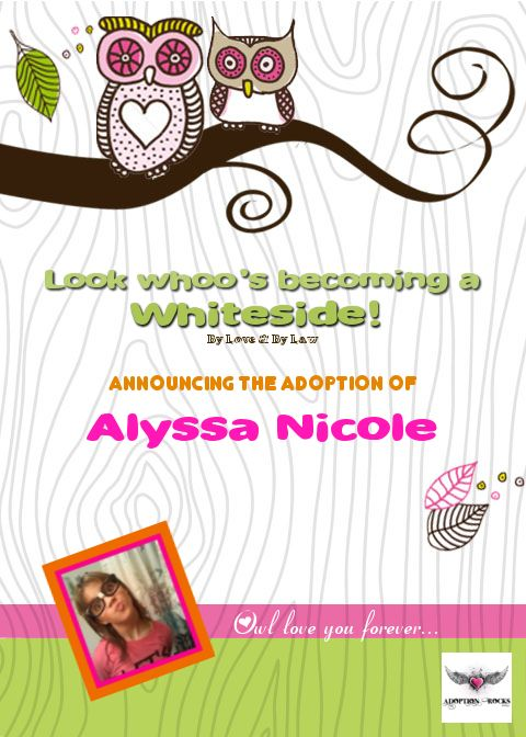i created this adoption announcement & adoption party invite for, Party invitations