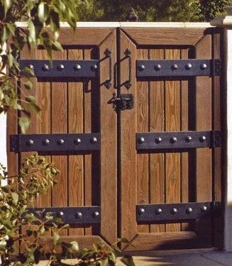 solid wood and iron gate