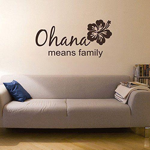 Ohana Means Family Vinyl Wall Decal Beach Decor Family Wall Art - Wall decals beach quotes