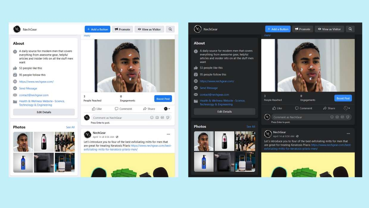 Facebook is offering users the option to manually switch to the new Facebook interface and while doing that it also asks you to enable the dark mode.  #facebook #darkmode