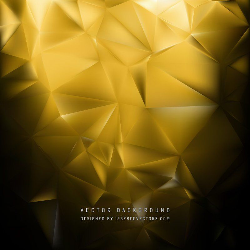 Black Yellow Polygon Pattern Background | Free Vectors | Background