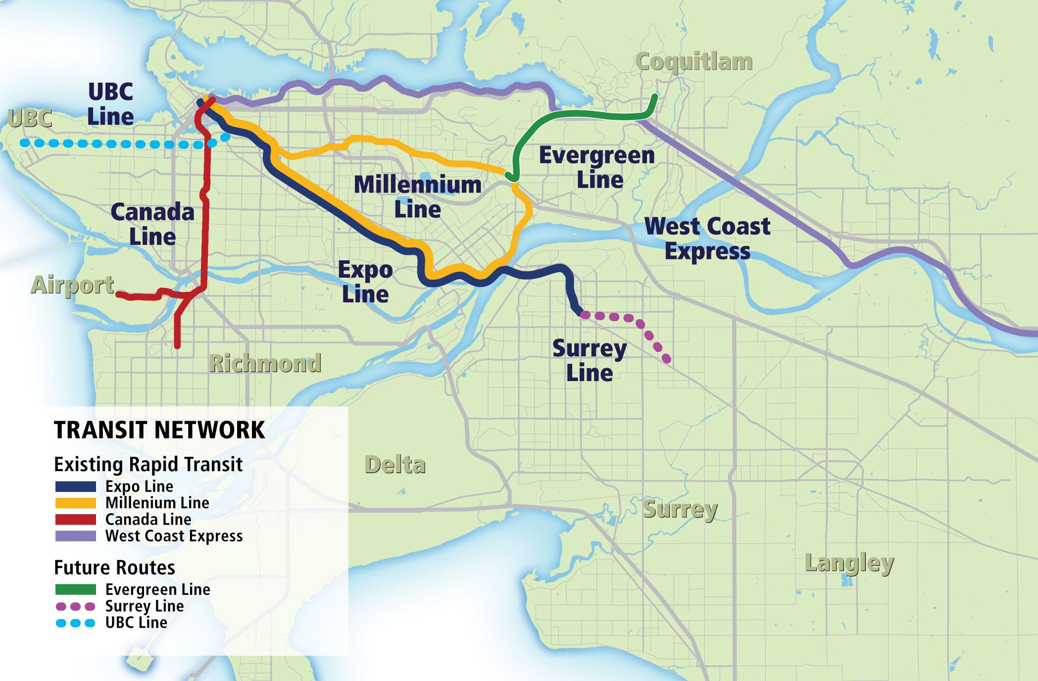 Canada Subway Map British Columbia.Skytrain Evergreen Line Moving Full Forward For 2016 Arrival Post