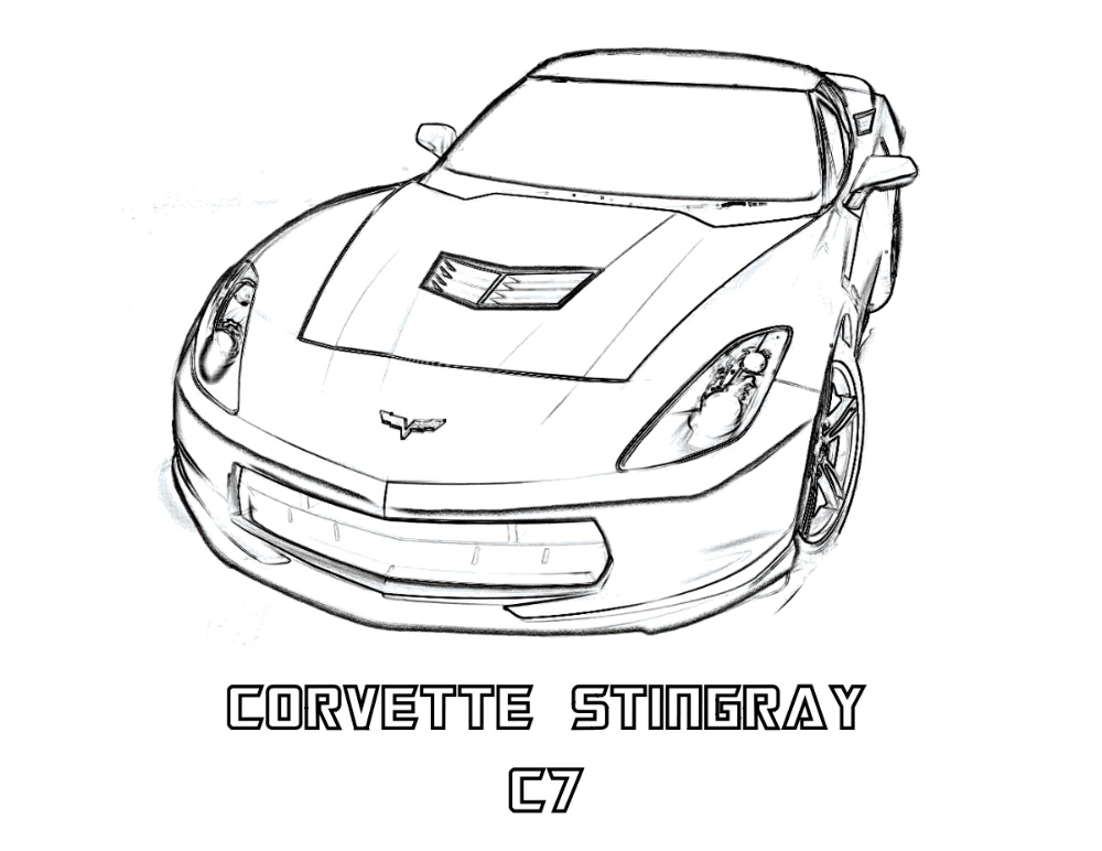 Corvette Coloring Pages K5 Worksheets In 2020 Race Car Coloring Pages Cars Coloring Pages Coloring Pages