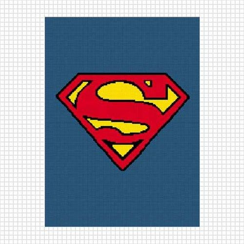 Superman S Afghan Crochet Pattern Graph Knit Cross stitch too ...