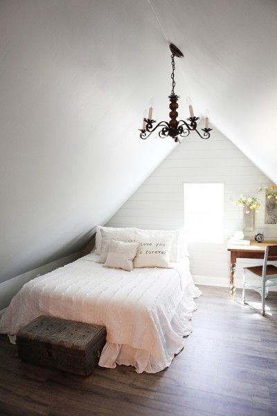 Take A Tour Of Chip And Joanna Gaines S Shiplap Filled Farmhouse Attic Bedroom Small Attic Bedroom Designs Attic Bedrooms