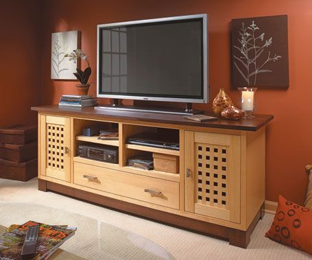 Flat Screen Tv Cabinet Woodsmith Plans Woodworking