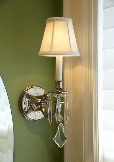 Nickel And Crystal Bathroom Sconce Traditional Lighting Vanity