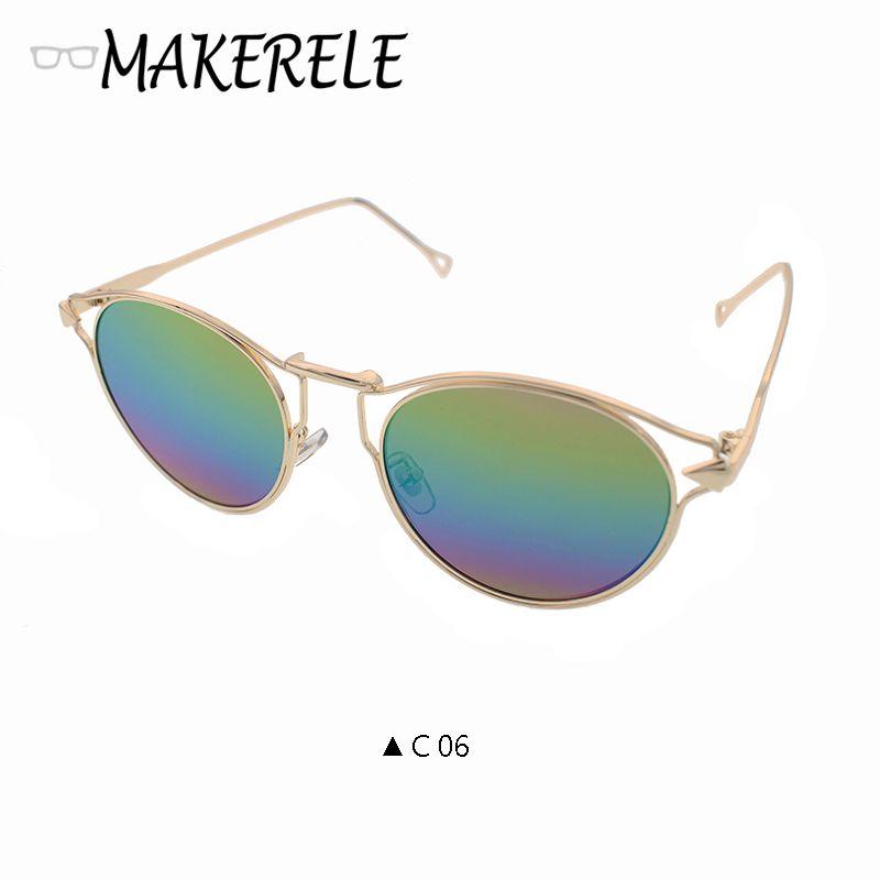 5a00eb9a66 Gothic Steampunk Vintage Sunglasses Mens Metal Men Coating Mirror Sunglasses  Women Round Sun glasses Retro UV400