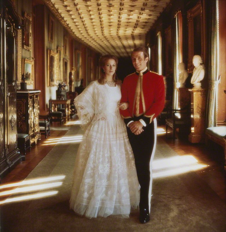 Princess Anne with her first husband Captain Mark Phillips
