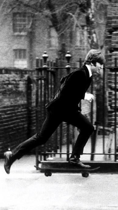 .Skateboarding. John Lennon