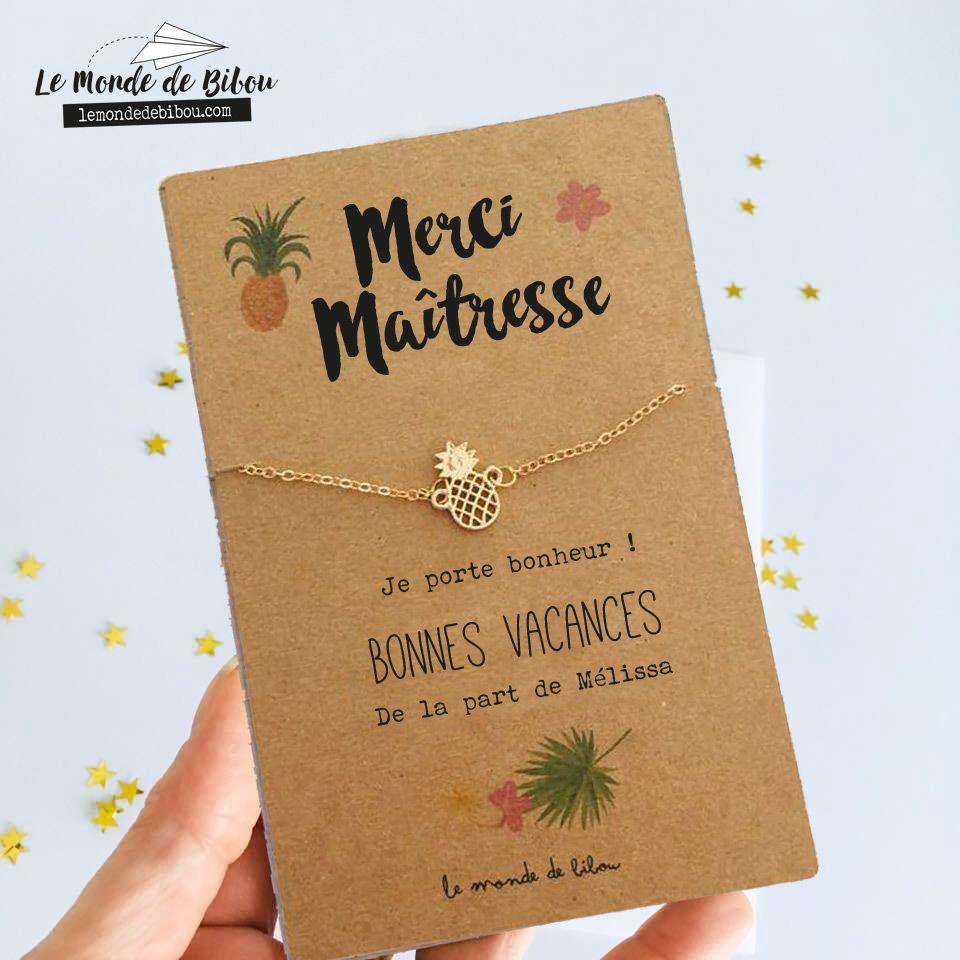 Carte bijoux personnalisé, merci maîtresse   Cadeaux ...