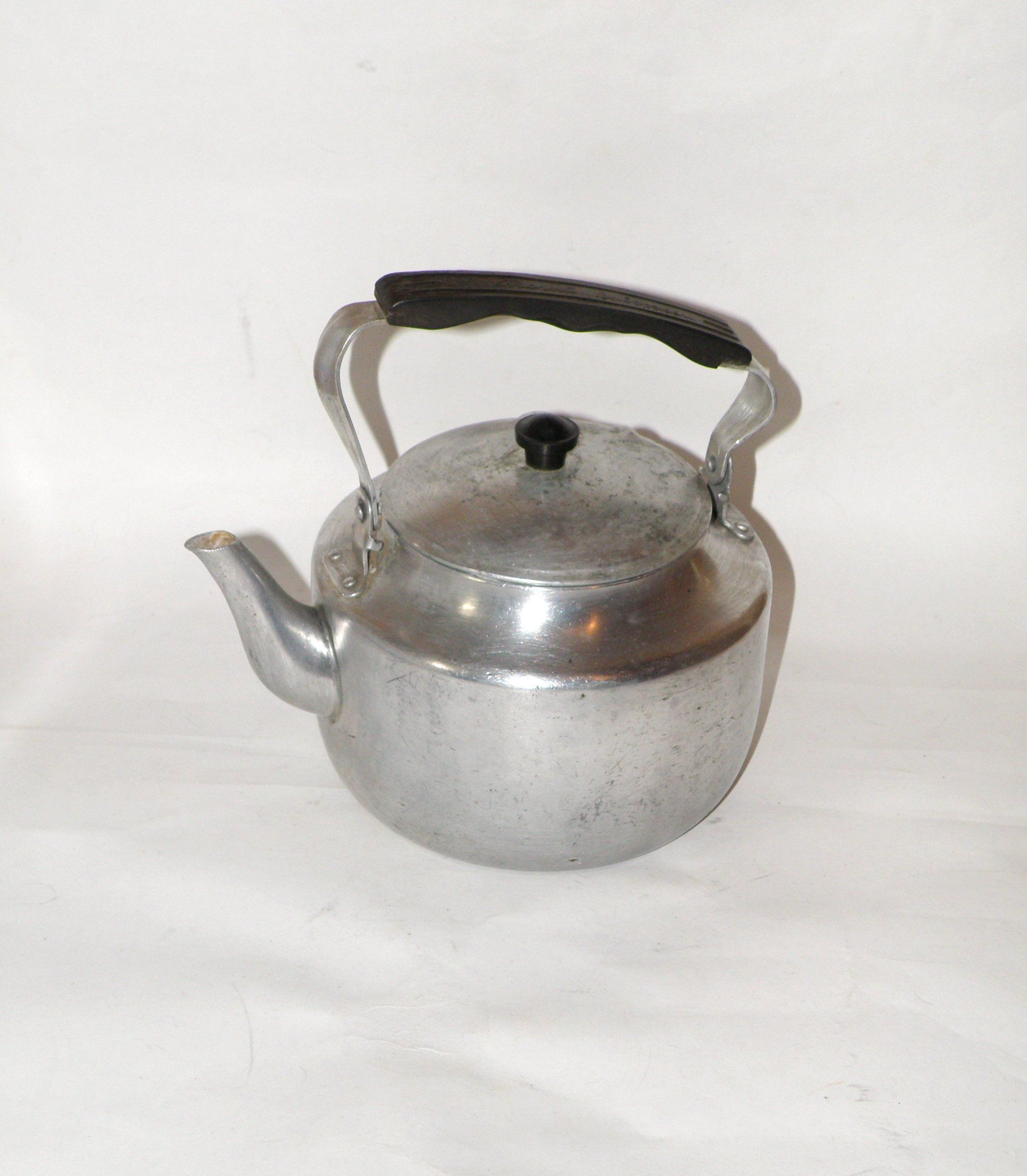 Vintage Aluminium Kettle Soviet Metal Kettle Aluminium Teapot Farmhouse Kitchen Rustic Kitchen Kettle Old Metal