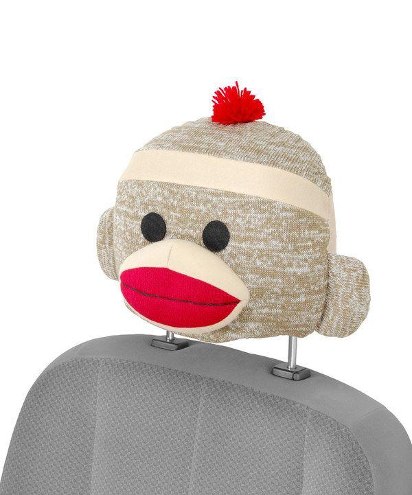 Look at this #zulilyfind! Sock Monkey Seat Cap by Bell Automotive #zulilyfinds