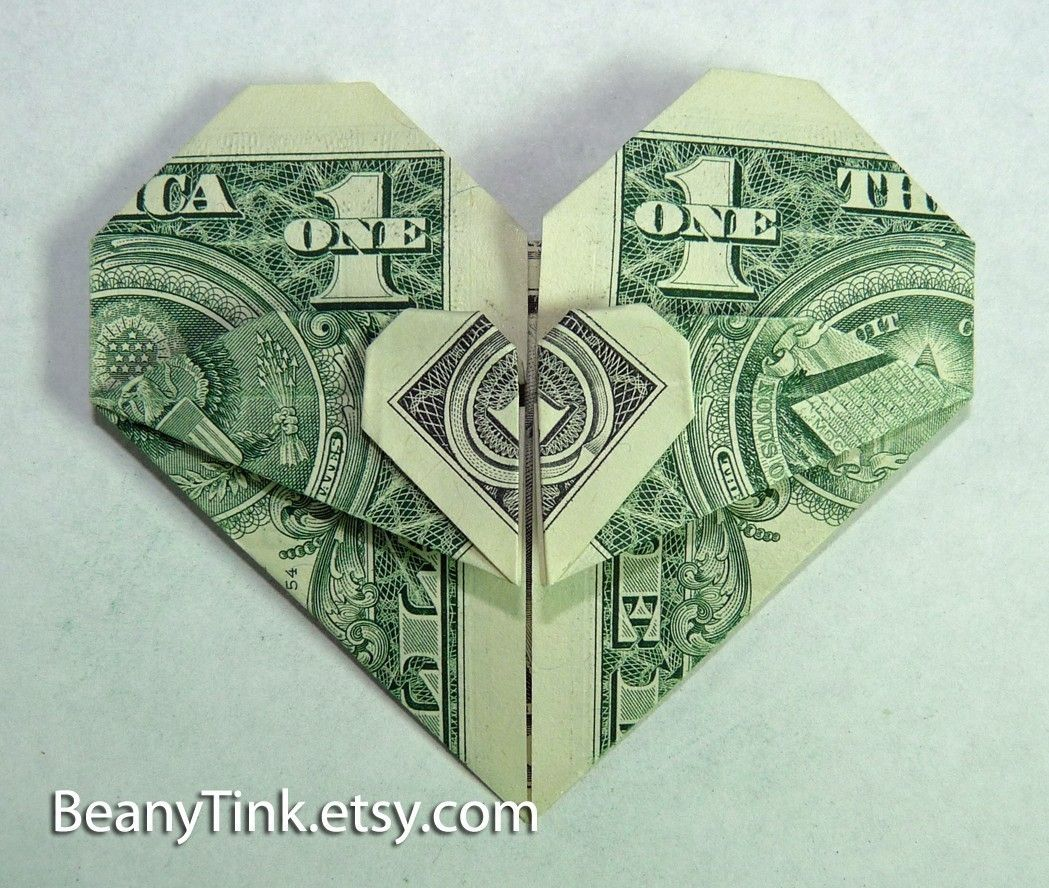 Dollar origami 2 hearts lovetoknow link to double heart video dollar origami 2 hearts lovetoknow link to double heart video tutorial here http jeuxipadfo Choice Image