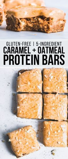 These Caramel Oatmeal Protein Bars are made with only 5 ingredients and will require only 20 minutes...