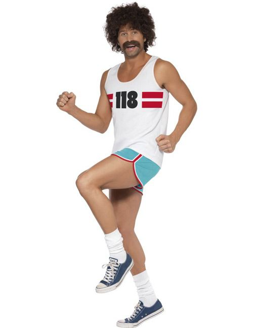 Sportler Kosta M Weiss Blau Artikelnummer 506190000 Ab 33 99euro Bei Karneval Megastore De Herren Kostum Lustige Kostum Ideen 80er Partyoutfit