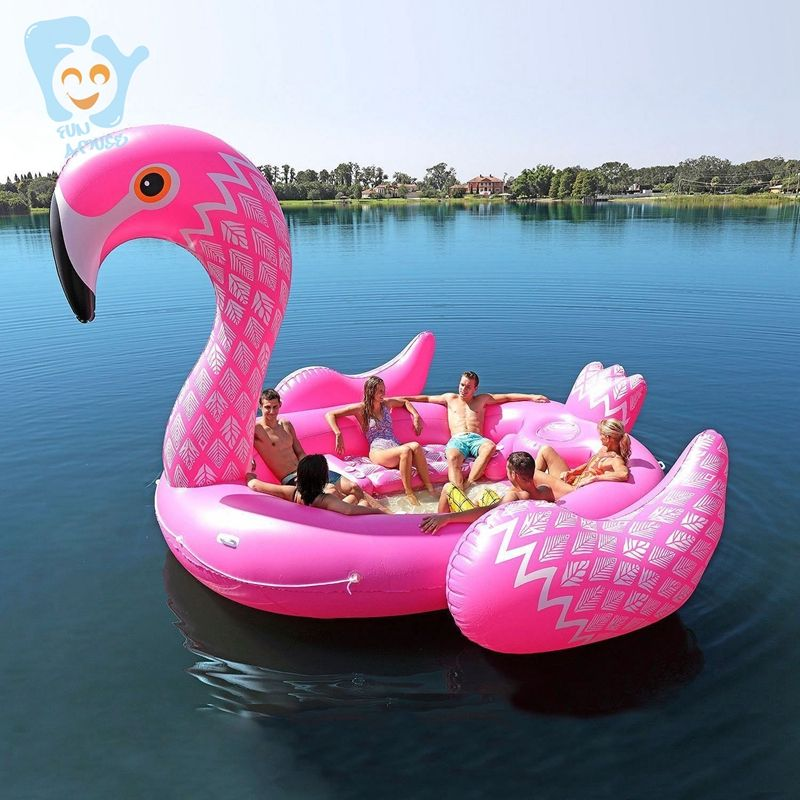 Buy 7 Person Inflatable Giant Pink Flamingo Pool Float Large Lake