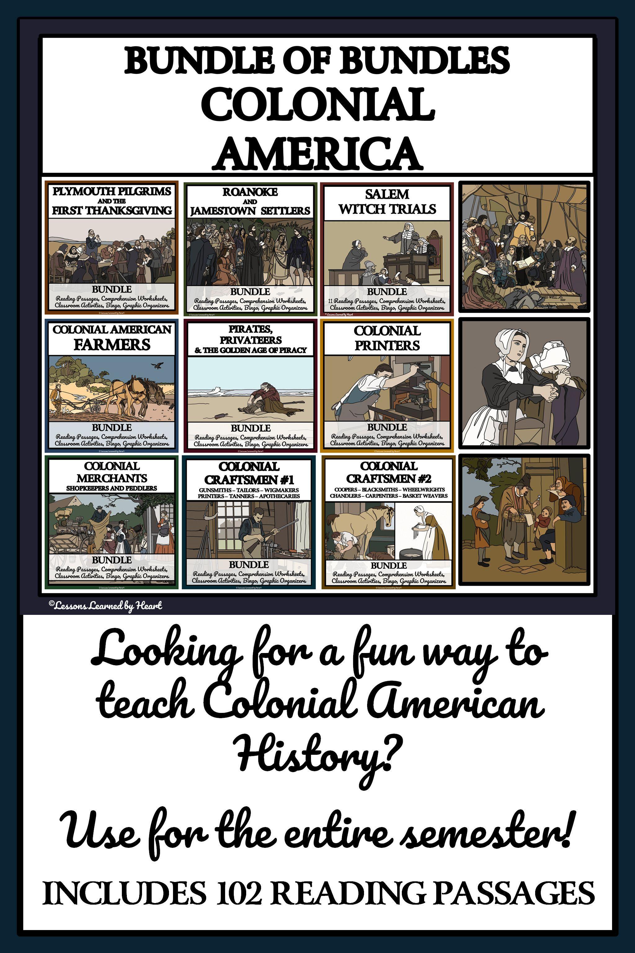 Life In Colonial America Mega Bundle