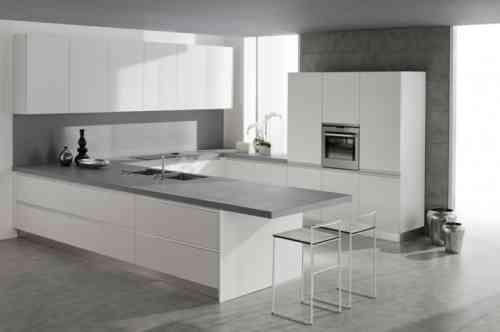 Plan de travail cuisine moderne en pierre et bois Pinterest - plan de travail de cuisine