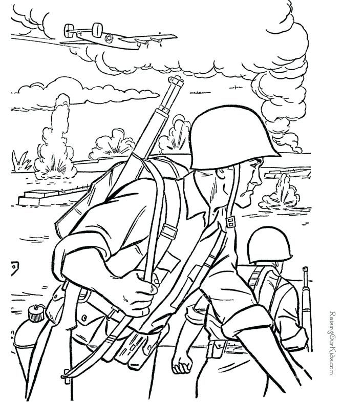 World War 2 Veterans Day Coloring Page Army Colors Coloring Books