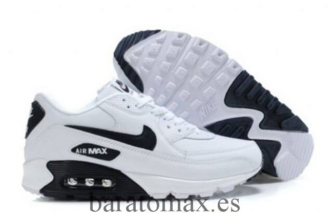 online store bcbd9 50c15 Nike Air Max 90 Blanco Negro Hombre Zapatos