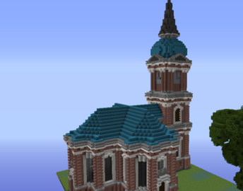 Schelfkirche church grabcraft your number one source for schelfkirche church grabcraft your number one source for minecraft buildings blueprints tips malvernweather Images