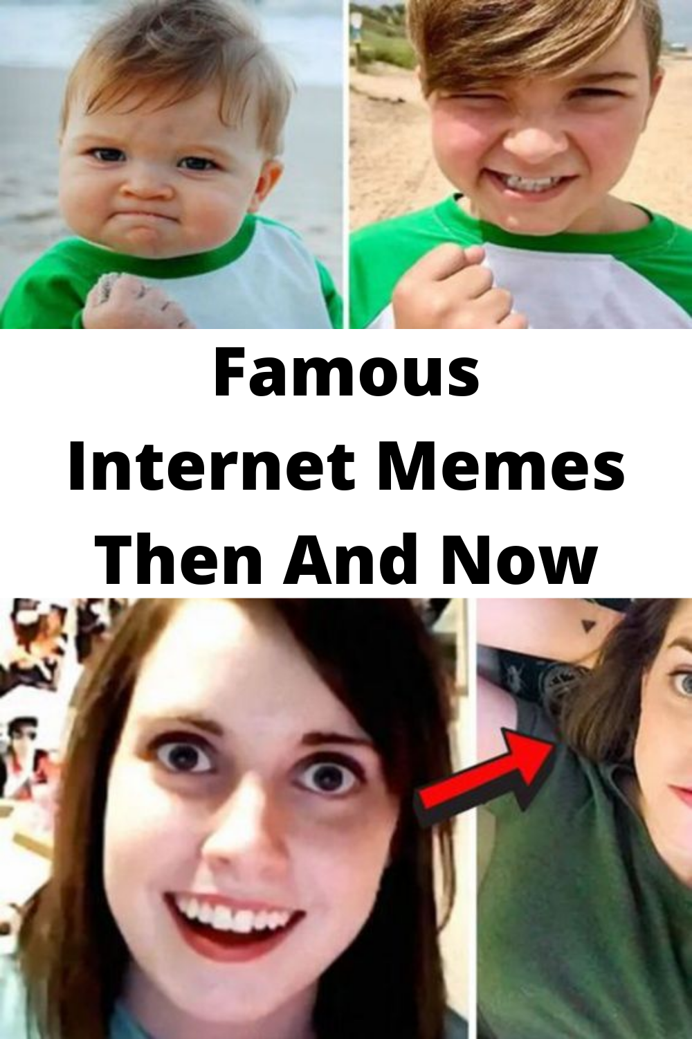 Famous Memes Then And Now