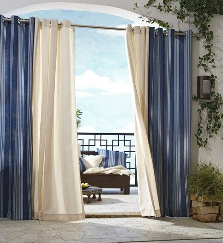Curtain & Bath Outlet - Gazebo Indoor Outdoor Stripe Grommet Curtain Panel