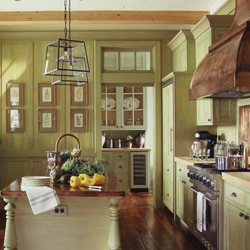 Kitchen Color Schemes: French Country Kitchen Cabinet Colors