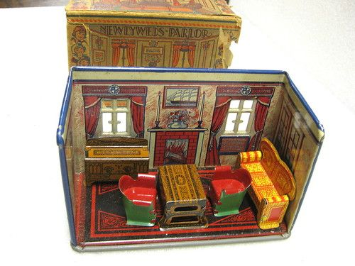 Sell One Like This 1920'S MARX NEWLYWEDS TIN DOLLHOUSE