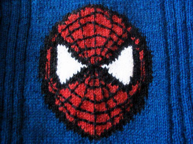 Spiderman motif | Knitting and Crochet | Pinterest