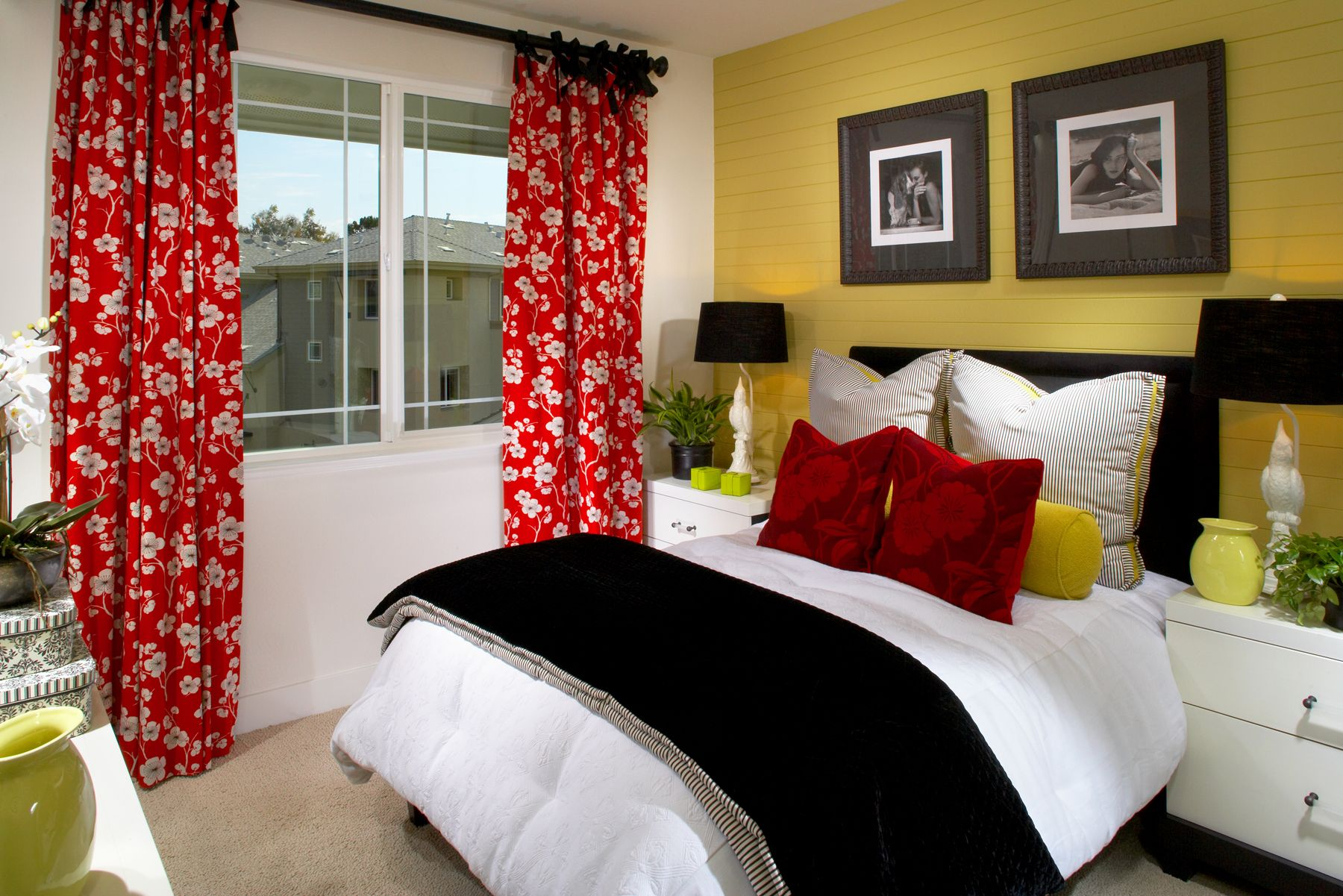 Black White And Yellow Bedroom Decorating Ideas Best Bedroom