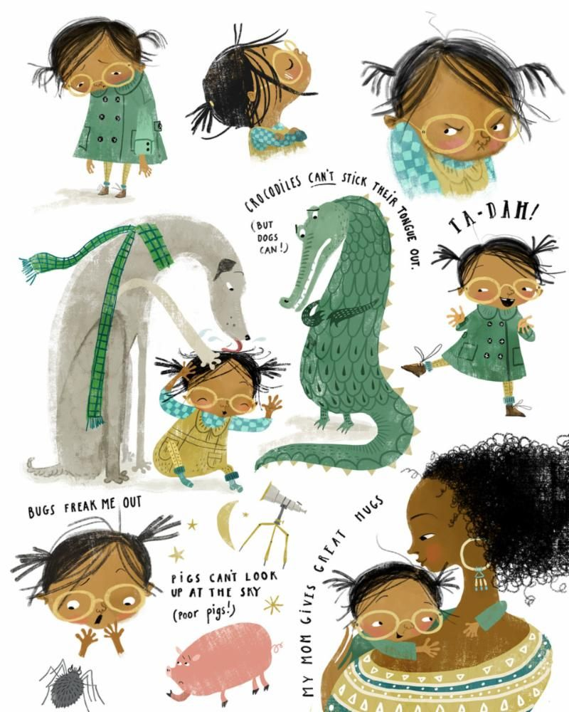 Here S A Peek At Our Artists Work For My Illustrating Children S Book Course Lilla Rogers Book Illustration Art Illustrations Kids Picture Books Illustration