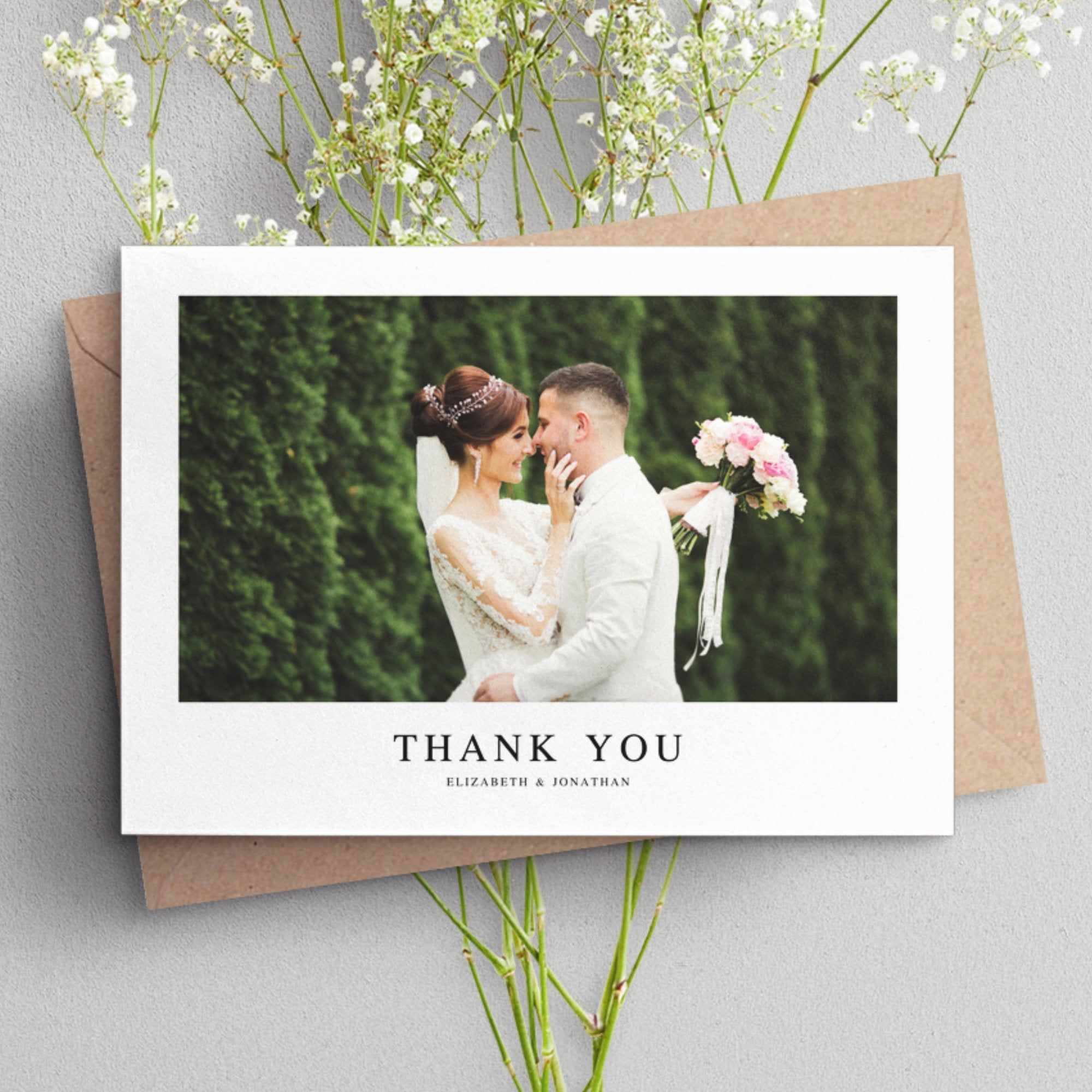 Wedding Thank You Cards With Photo Wedding Photo Thank You Etsy Wedding Thank You Cards Photo Thank You Cards Wedding Thank You