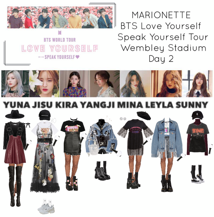 Marionette Bts World Tour Love Yourself Speak Yourself Bts Inspired Outfits Korean Girl Fashion Fall Fashion Trends Teens