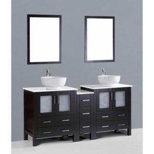 Dark Espresso Bathroom Mirror