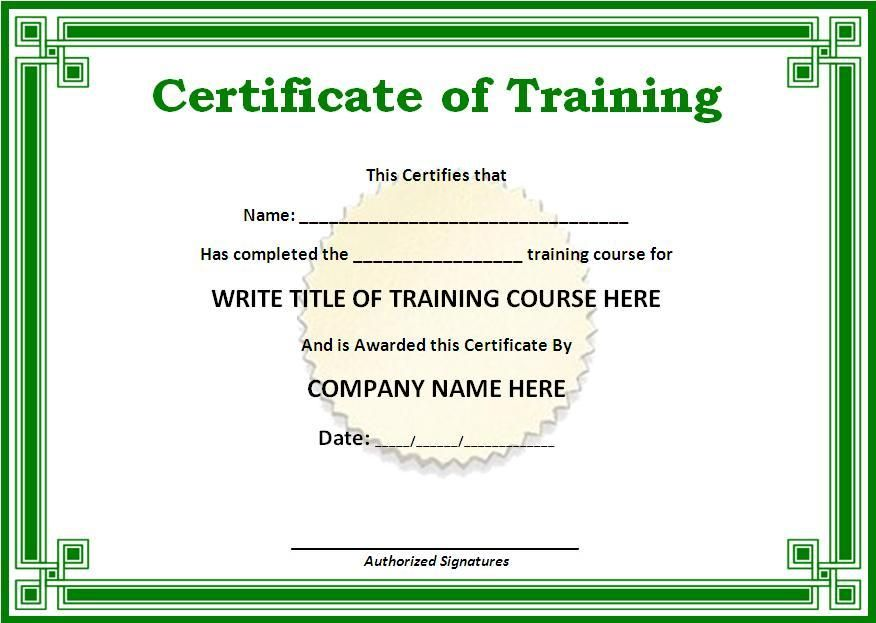 Obtain Training Certificate resemble like to a Real One for many - certificate of completion of training template