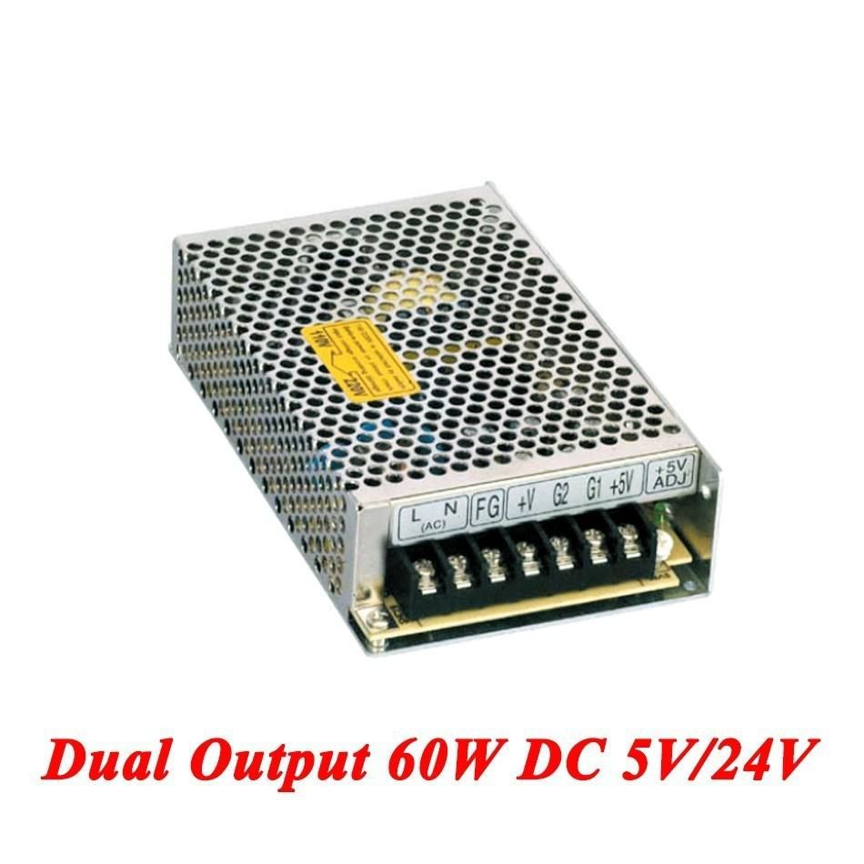 D-60B Switching Power Supply 60W 5V/24V,Dual Output Ac-dc