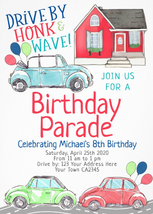 Birthday Parade Invitation | Zazzle.com