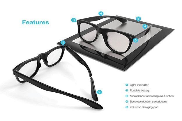 Hearing Aid Eyeglasses Use Bone Conduction To Amplify Sound ...