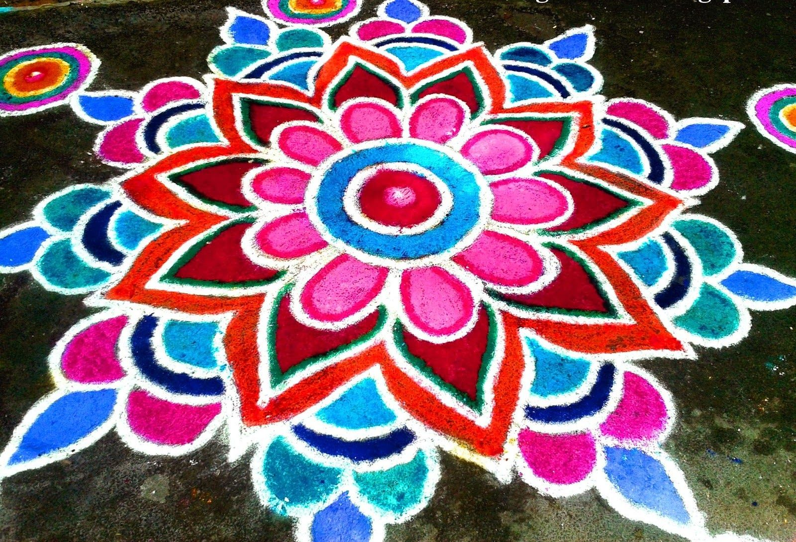 Traditie: Rangolikunst uit Nepal | malowane | Pinterest | Diwali ... for Rangoli Designs For Competition With Themes Colour  165jwn